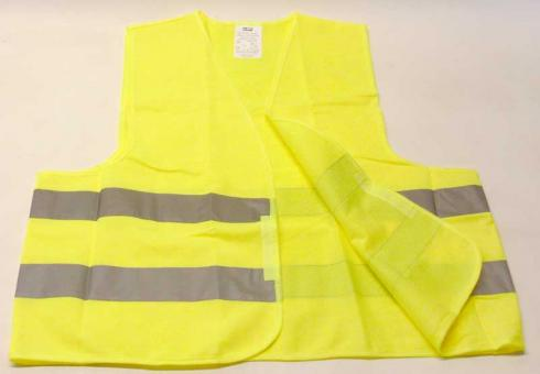 Warnweste Neon Gelb Unisex Gr. XL nach ISO EN 471