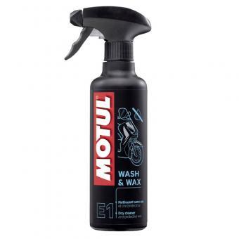 Motul E1 Wash & Wax dry bike cleaner 400 ml bottle