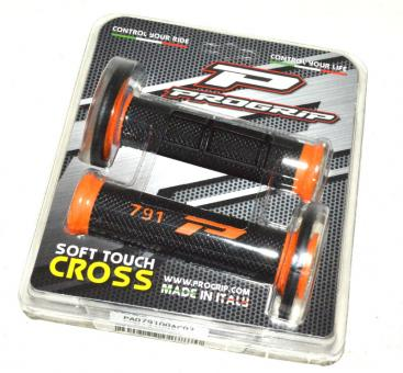 ProGrip 791 Griffgummi Cross schwarz/orange für 22 mm Lenker rubber handle bar